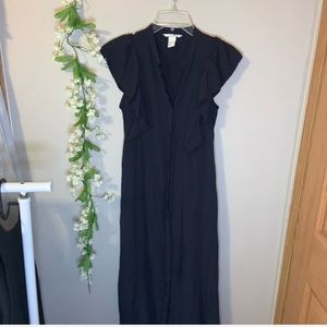 Navy blue long dress H&M size 4
